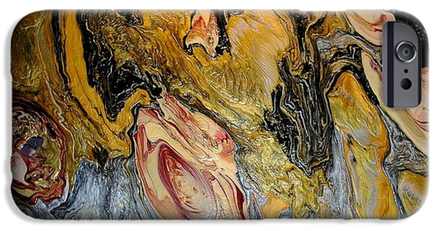 Abstract IPhone 6 Case featuring the painting Dragon Dream by Patrick Mock