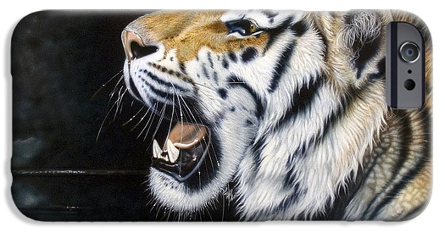 Tiger IPhone 6 Case featuring the painting Dragonfly by Sandi Baker