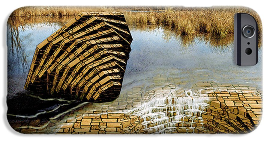 Drain IPhone 6 Case featuring the digital art Drain - Mendon Ponds by Peter J Sucy