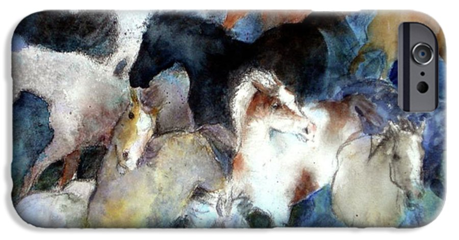 Horses IPhone 6 Case featuring the painting Dream Of Wild Horses by Christie Michelsen