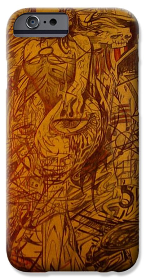 Chaos IPhone 6 Case featuring the drawing Dream by Will Le Beouf