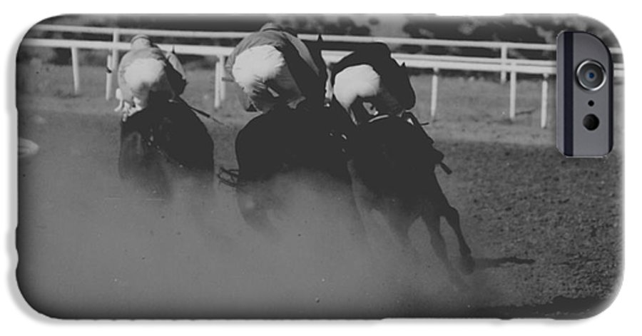 Horse IPhone 6 Case featuring the photograph Dust And Butts by Kathy McClure