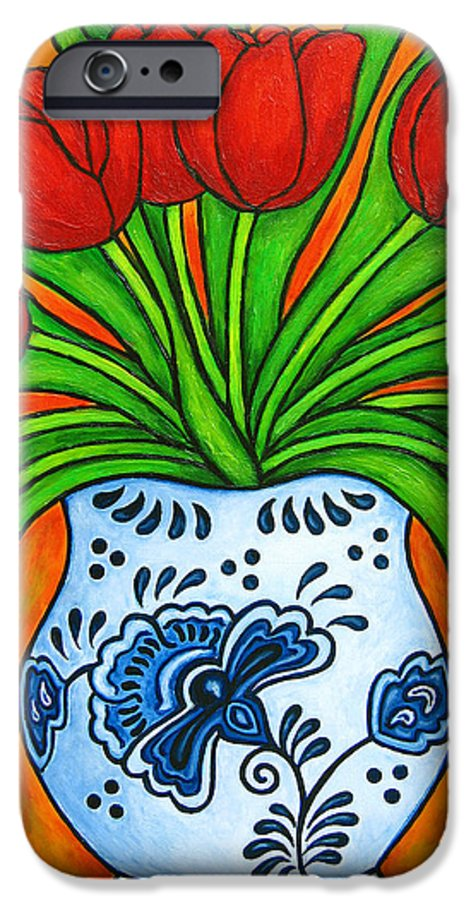 White IPhone 6 Case featuring the painting Dutch Delight by Lisa Lorenz