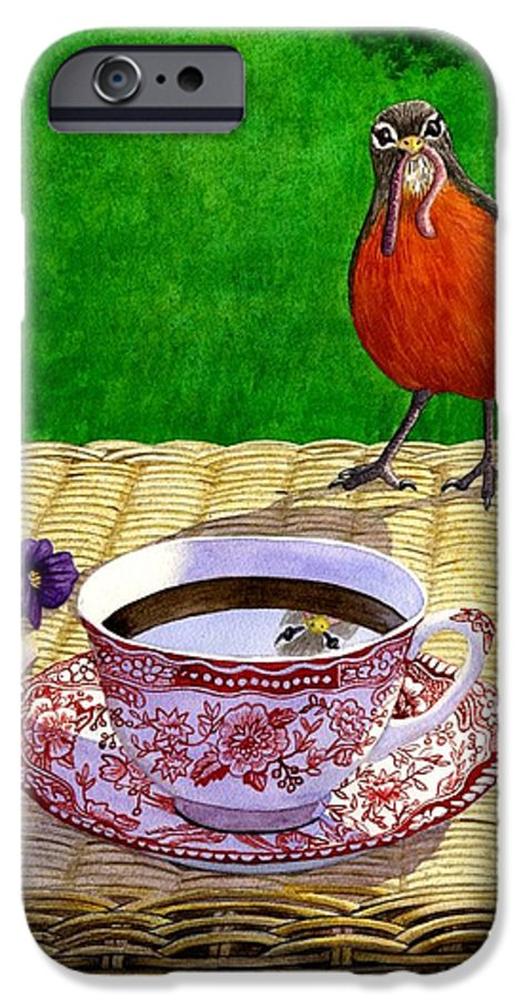 Robin IPhone 6 Case featuring the painting Early Bird by Catherine G McElroy
