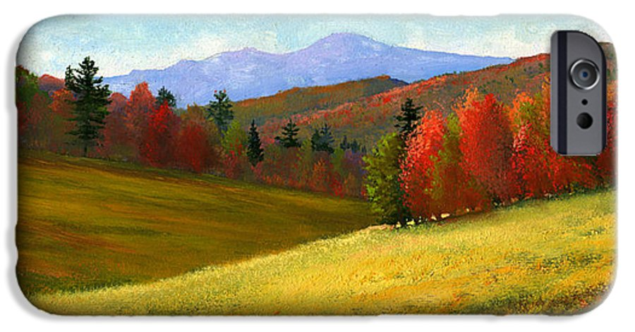 Landscape IPhone 6 Case featuring the painting Early October by Frank Wilson