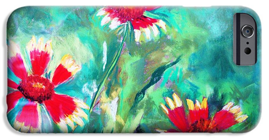 Flowers IPhone 6 Case featuring the painting East Texas Wild Flowers by Melinda Etzold