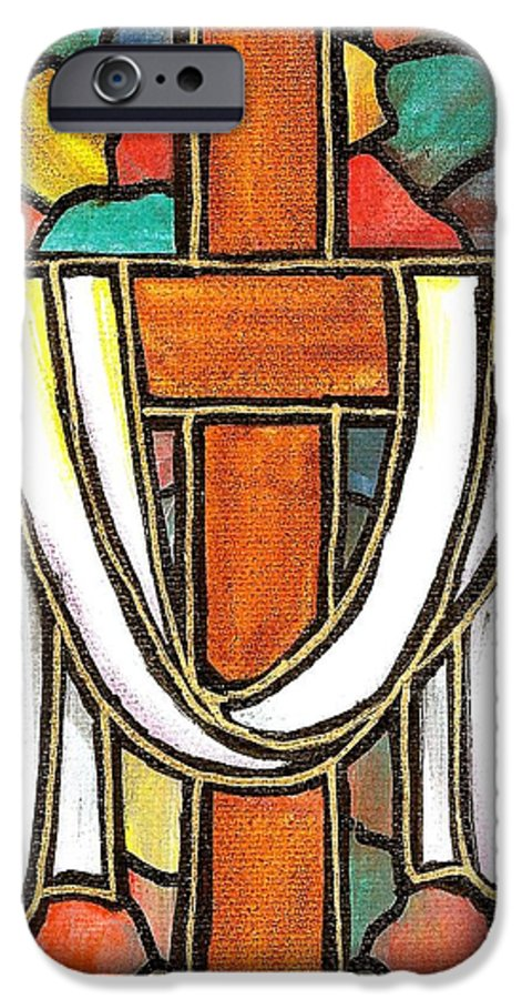 Easter IPhone 6 Case featuring the painting Easter Cross 6 by Jim Harris