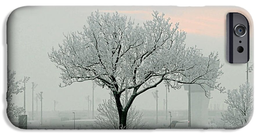 White IPhone 6 Case featuring the photograph Eerie Days by Christine Till