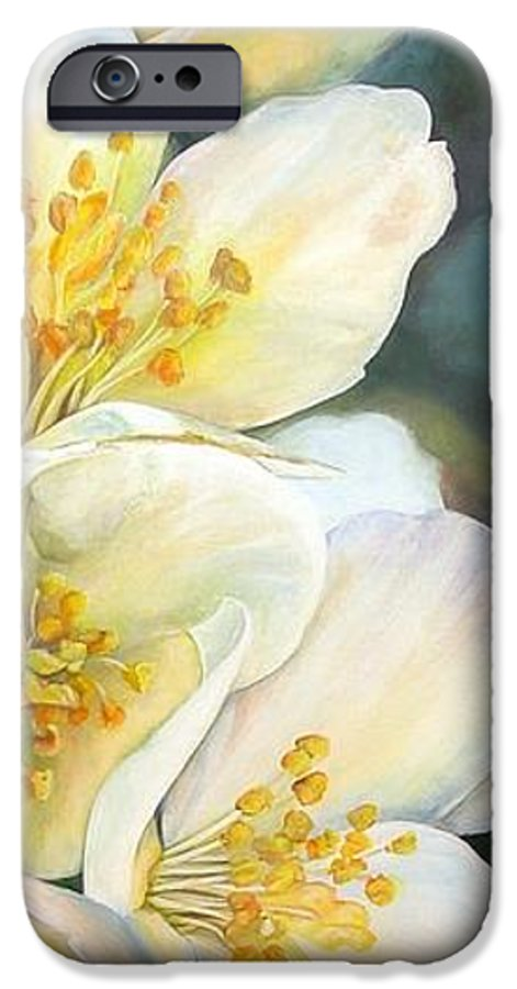 Floral Painting IPhone 6 Case featuring the painting Eglantine by Muriel Dolemieux