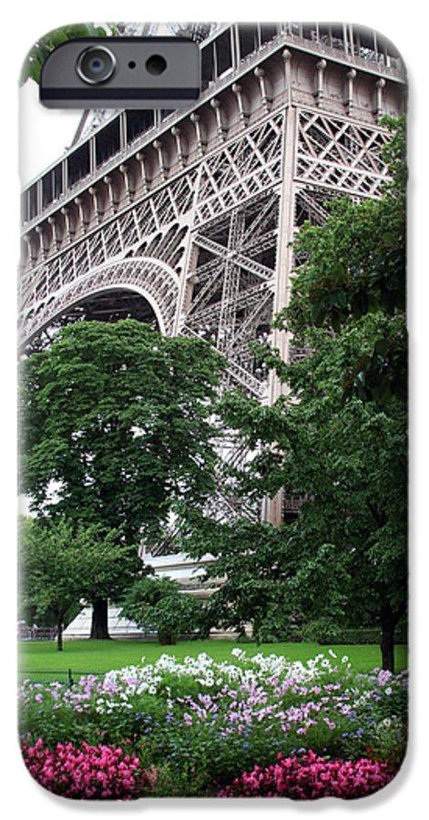 Eiffel IPhone 6 Case featuring the photograph Eiffel Tower Garden by Margie Wildblood