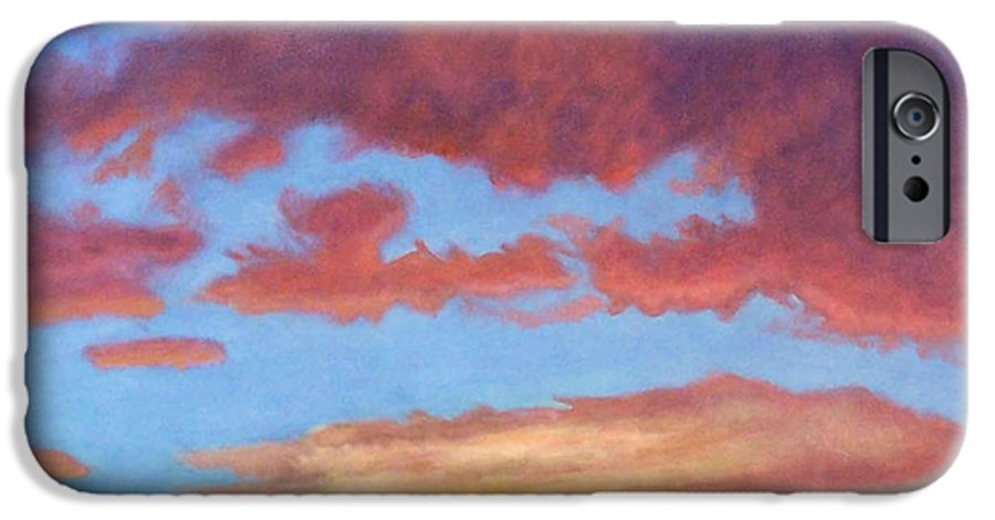 Sunset IPhone 6 Case featuring the painting El Dorado Sunset by Brian Commerford