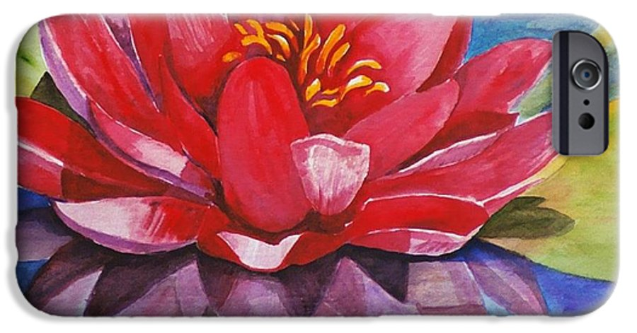 Lily IPhone 6 Case featuring the painting Ela Lily by Jun Jamosmos