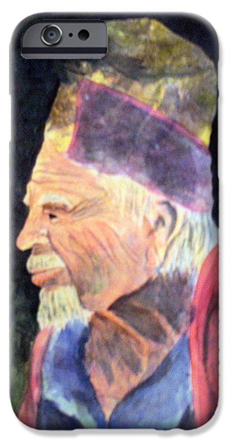 Elder IPhone 6 Case featuring the painting Elder by Susan Kubes