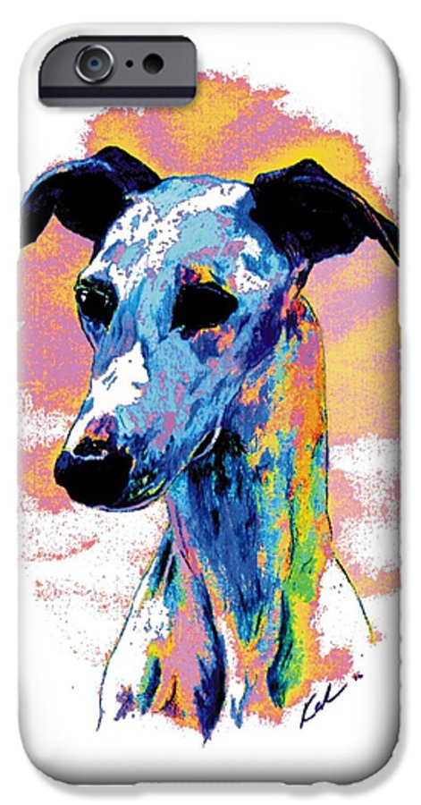 Electric Whippet IPhone 6 Case featuring the digital art Electric Whippet by Kathleen Sepulveda