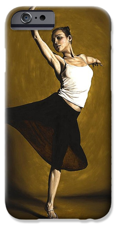 Elegant IPhone 6 Case featuring the painting Elegant Dancer by Richard Young