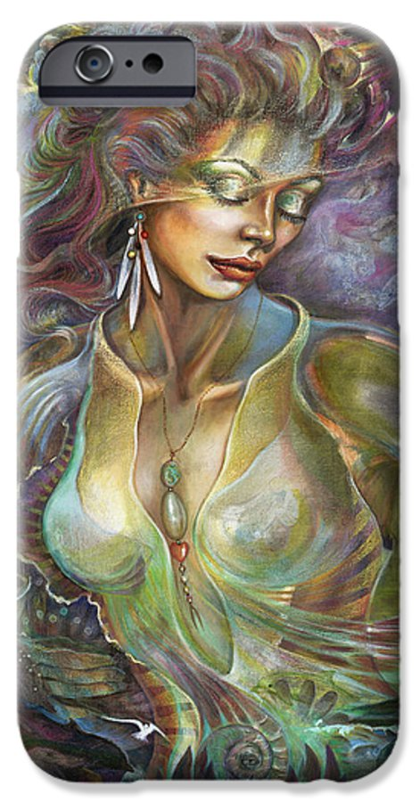 Elements IPhone 6 Case featuring the painting Element Air by Blaze Warrender