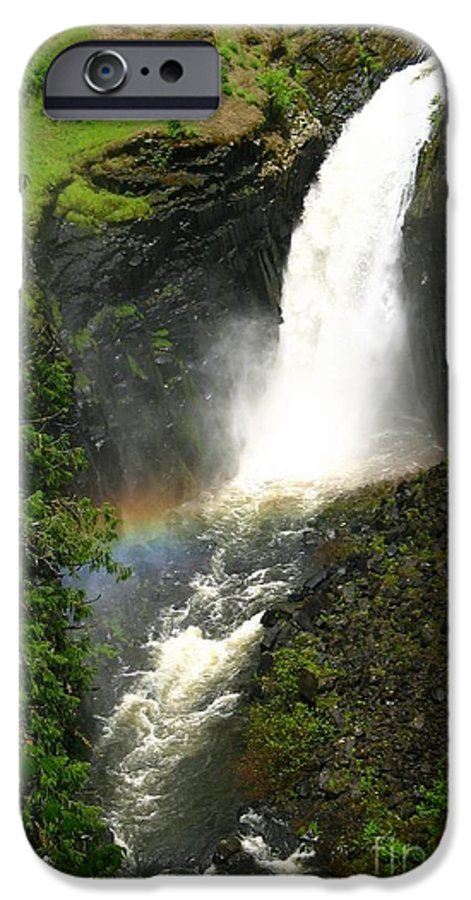 Rainbow IPhone 6 Case featuring the photograph Elk Creek Falls Rainbow by Idaho Scenic Images Linda Lantzy