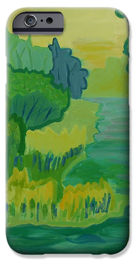 River IPhone 6 Case featuring the painting Ellis River by Debra Bretton Robinson