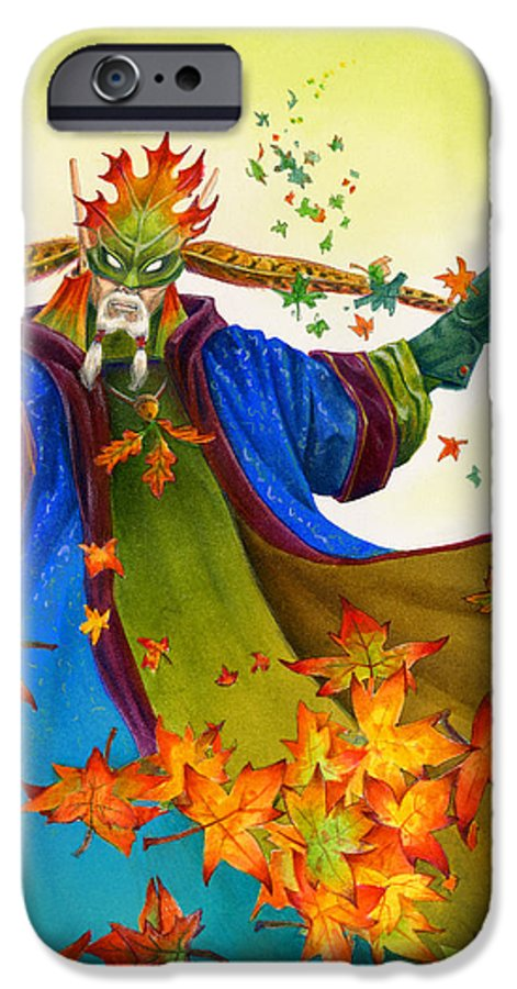 Elf IPhone 6 Case featuring the painting Elven Mage by Melissa A Benson