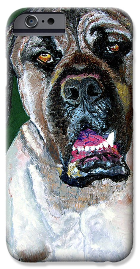 Dog Portrait IPhone 6 Case featuring the painting Ely by Stan Hamilton