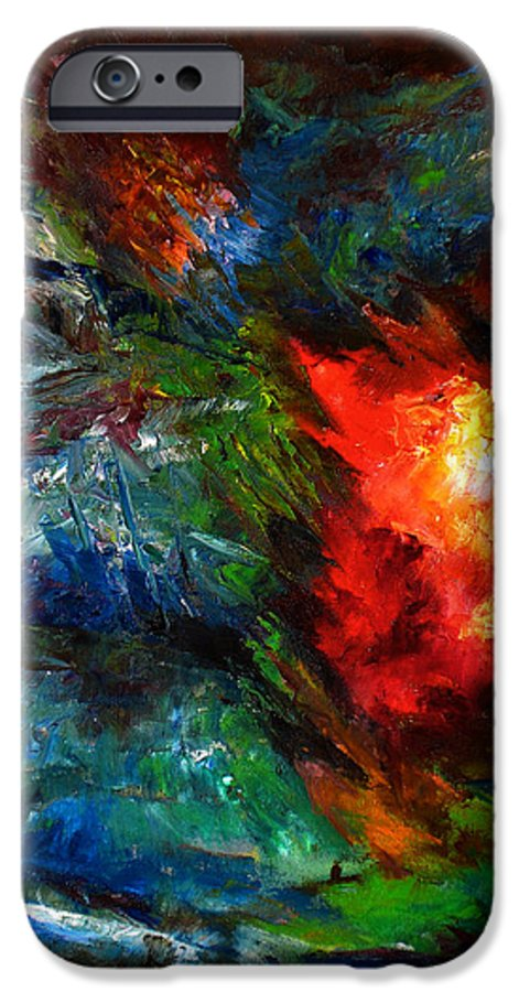 Abstract IPhone 6 Case featuring the painting Embrace by Lou Ewers
