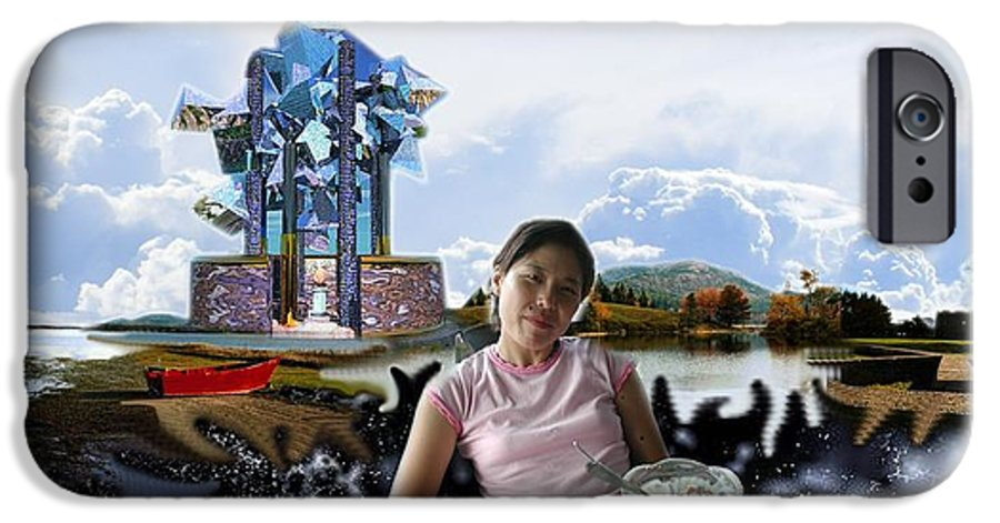 Spacem Maine IPhone 6 Case featuring the digital art Emma's Afternoon Snack by Dave Martsolf