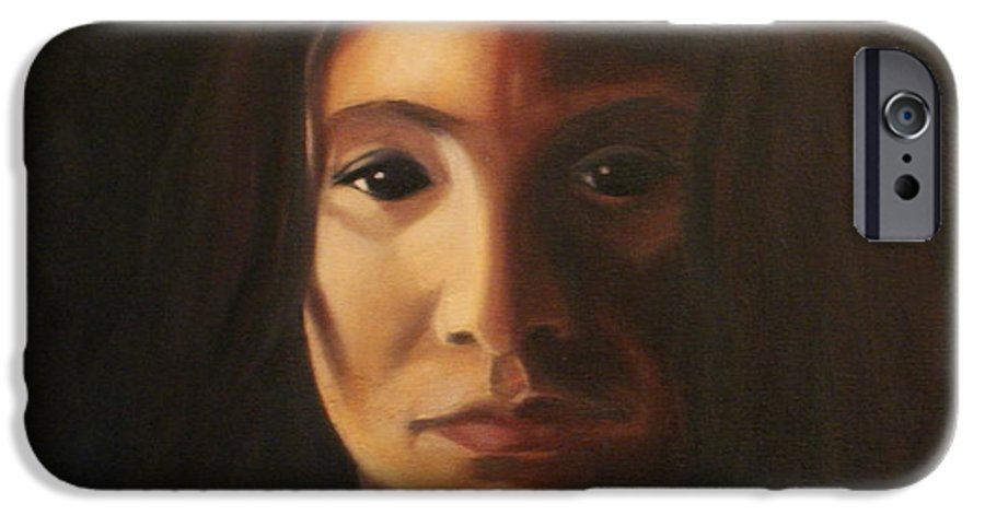 Woman In The Dark IPhone 6 Case featuring the painting Endure by Toni Berry