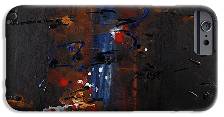 Black IPhone 6 Case featuring the painting Energy by Nadine Rippelmeyer
