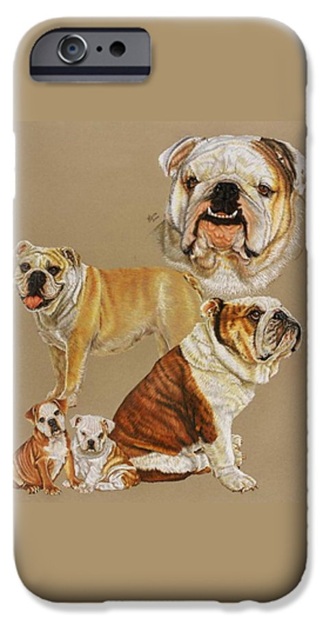 Purebred IPhone 6 Case featuring the drawing English Bulldog by Barbara Keith