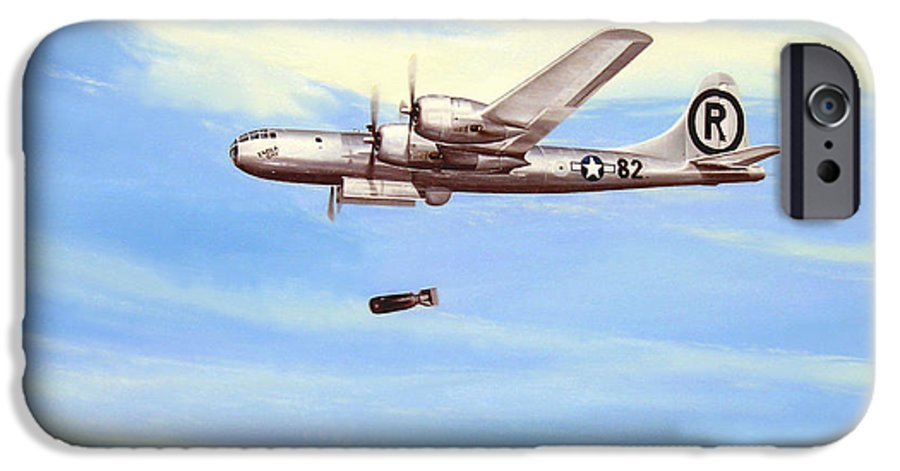 Military IPhone 6 Case featuring the painting Enola Gay by Marc Stewart