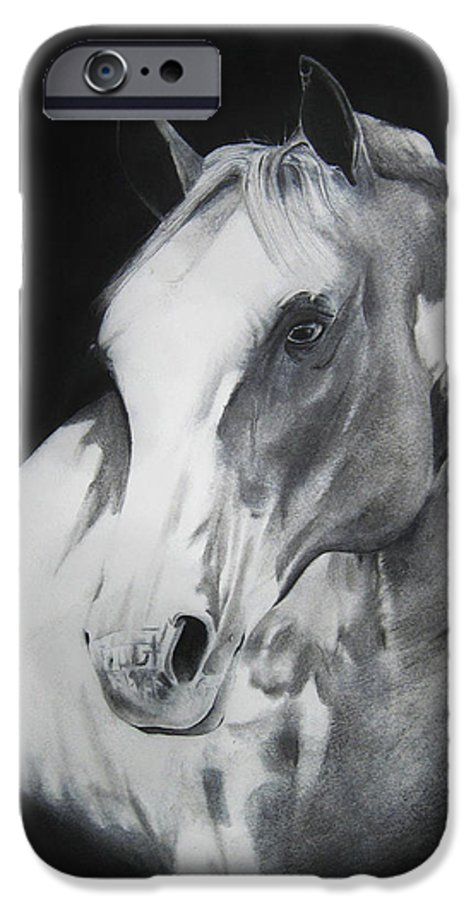 Horse IPhone 6 Case featuring the drawing Equestrian Beauty by Carrie Jackson