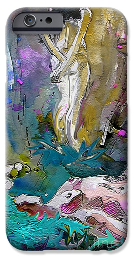 Miki IPhone 6 Case featuring the painting Eroscape 1104 by Miki De Goodaboom