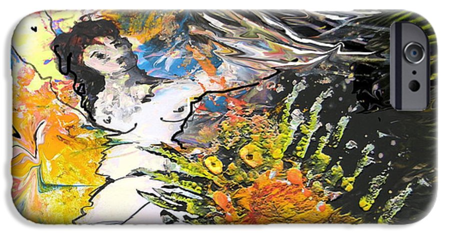 Miki IPhone 6 Case featuring the painting Erotype 07 2 by Miki De Goodaboom
