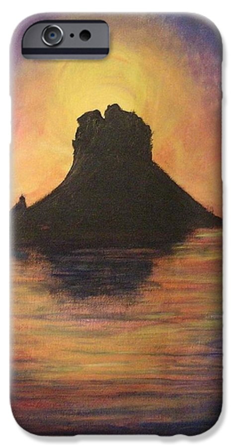 Sunset IPhone 6 Case featuring the painting Es Vedra Sunset I by Lizzy Forrester