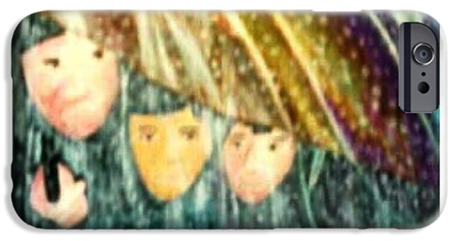Portrait IPhone 6 Case featuring the painting Escape From The Rain by Brenda L Spencer