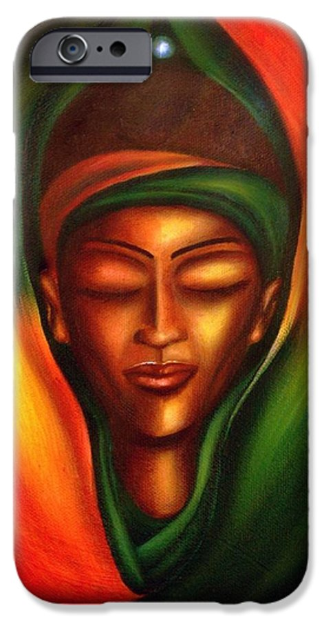Beauty IPhone 6 Case featuring the painting Essence by Lee Grissett