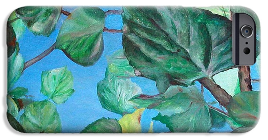 Floral Painting IPhone 6 Case featuring the painting Ete by Muriel Dolemieux