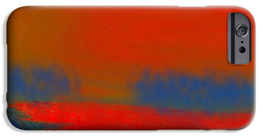 Sunset IPhone 6 Case featuring the digital art Evening Way To Dead Sea.fire Sunset by Dr Loifer Vladimir