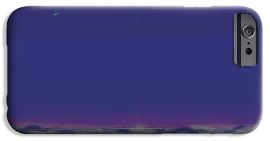 Late Evening.violet Dark Sky.rest.little Stars.last Ray Of Sun.sea.waves.silence. Birds.quiet. IPhone 6 Case featuring the digital art Evening.birds by Dr Loifer Vladimir
