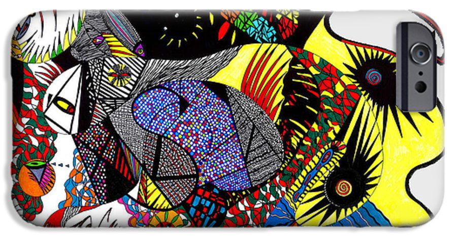 Psychedelic IPhone 6 Case featuring the painting Evil Born by Safak Tulga