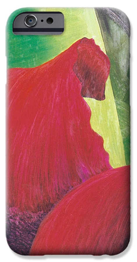 Red IPhone 6 Case featuring the painting Expectations by Christina Rahm Galanis