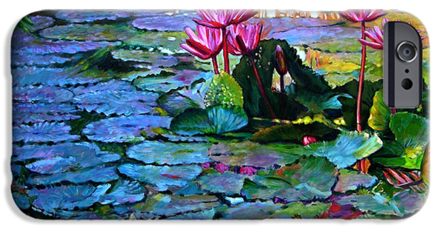 Landscape IPhone 6 Case featuring the painting Expressions From The Garden by John Lautermilch