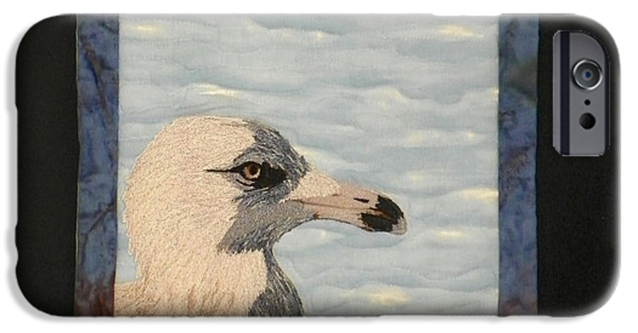 Birds IPhone 6 Case featuring the tapestry - textile Eye Of The Gull by Jenny Williams