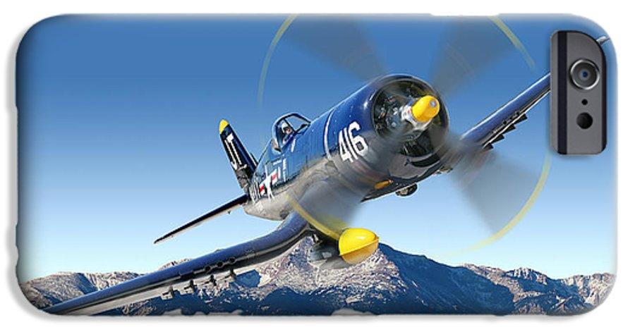 F4-u Corsair IPhone 6 Case featuring the photograph F4-u Corsair by Larry McManus