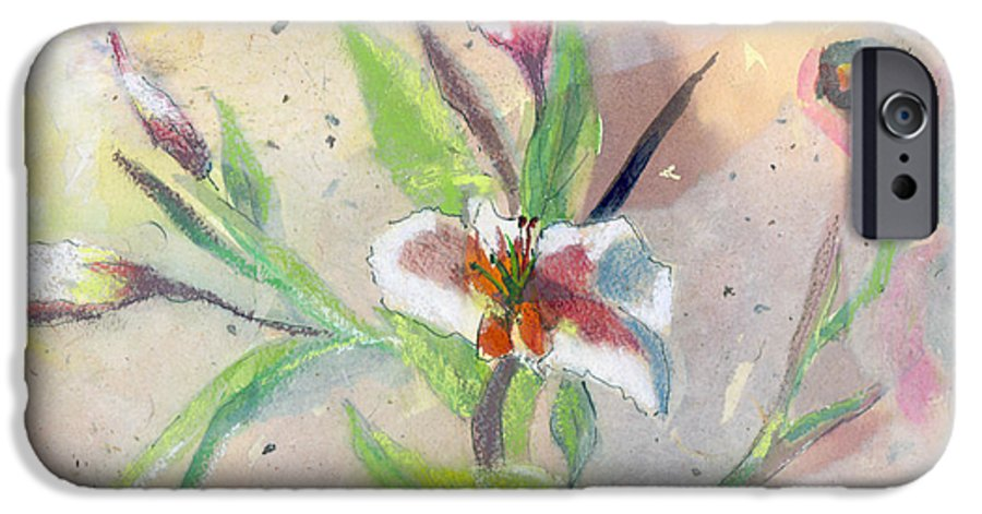 Flower IPhone 6 Case featuring the painting Faded Lilies by Arline Wagner