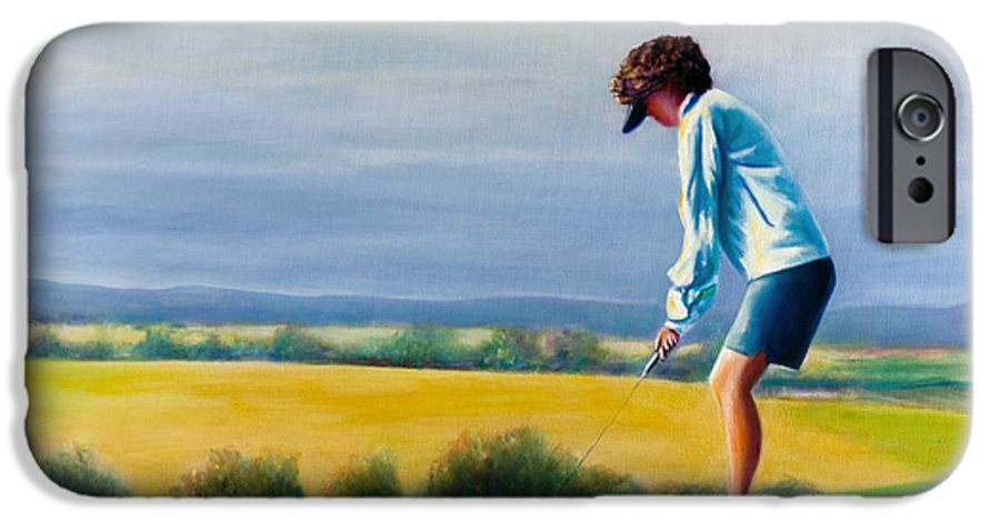 Golfer IPhone 6 Case featuring the painting Fairy Golf Mother by Shannon Grissom