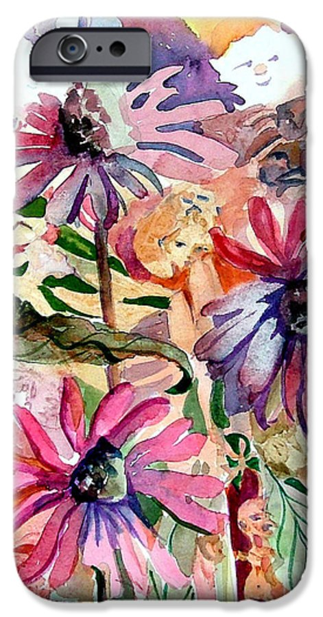 Daisy IPhone 6 Case featuring the painting Fairy Land by Mindy Newman