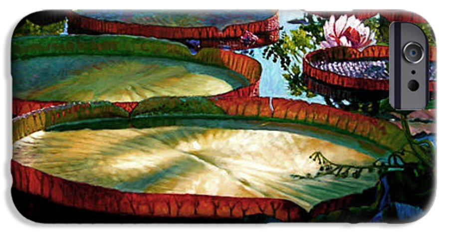 Landscape IPhone 6 Case featuring the painting Fall Colors In The Morning Sun by John Lautermilch