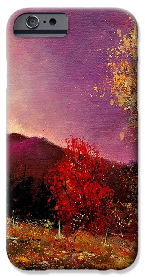 River IPhone 6 Case featuring the painting Fall Colors by Pol Ledent
