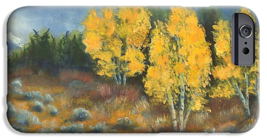 Landscape IPhone 6 Case featuring the painting Fall Delight by Jerry McElroy